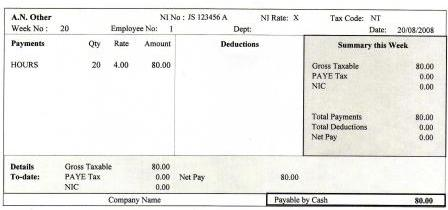 Doc510345 Sample Payslip Uk See a Sample Payslip 94 More – Example Payslip